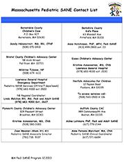 ... Sexual Assault Nurse Examiner Program Designated Sites and Staff  Contact Information